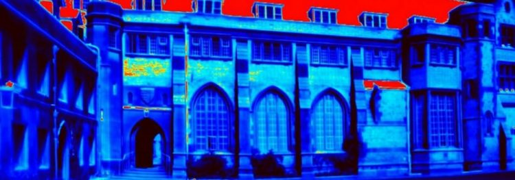 Pembroke College in thermal vision