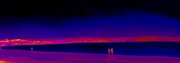 Weymouth Beach in thermal vision