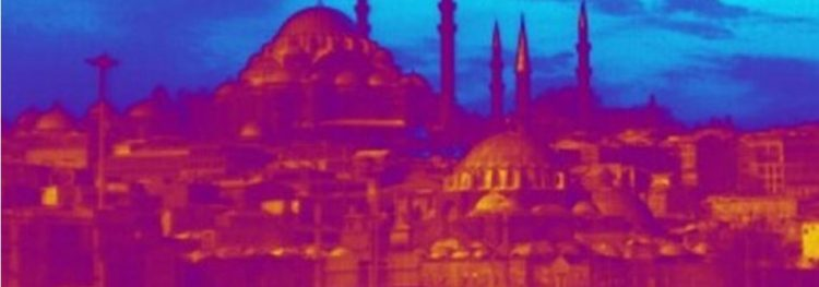 Istanbul Skyline in thermal vision